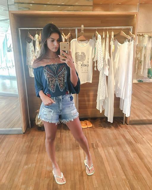 Look Farm Havaianas shorts jeans