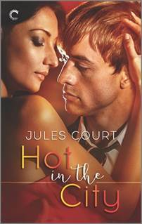 romance novel covers, contemporary romance, Hot in the City by Jules Court