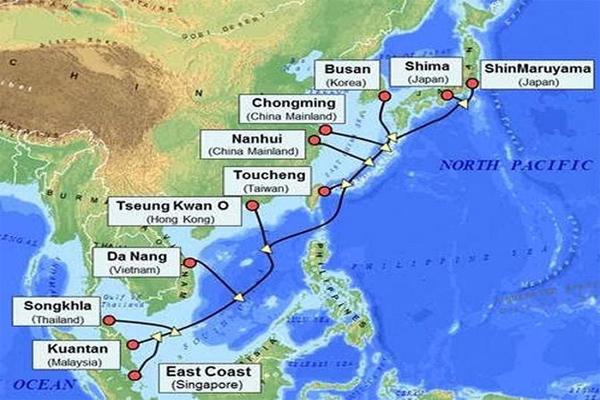 Tuyến Cáp Quang Biển APG Dung Lượng 54Tbps Sắp Đi Vào Hoạt Động