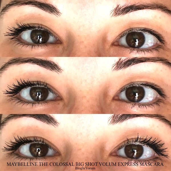 maybelline the colossal big shot volum express mascara swatches