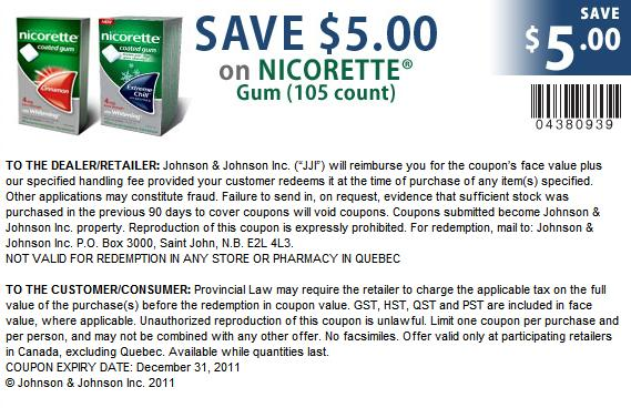 image about Nicorette Printable Coupon named Discount coupons for nicorette gum canada : Keyboard discounts reddit