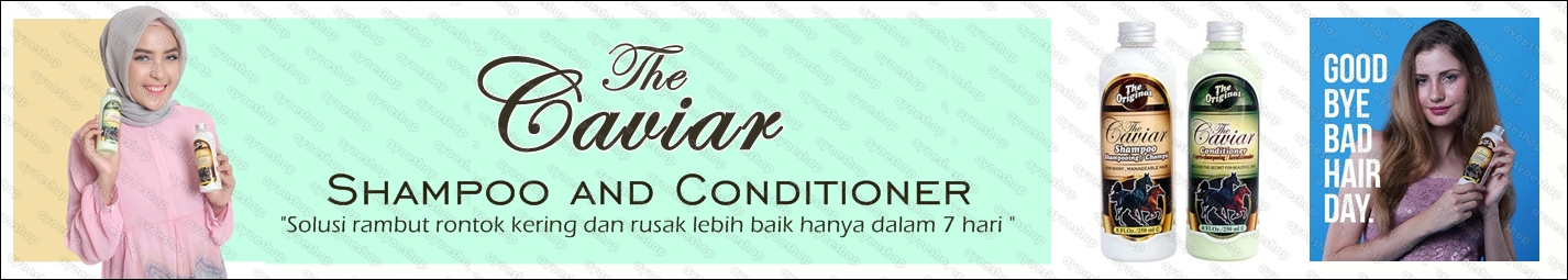 Caviar Sampoo and Conditioner Original : KLIK