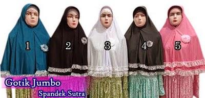Jilbab instan modern gotik jumbo