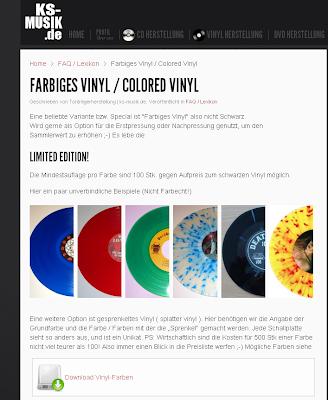 colour vinyl records - Farbige Vinyl Schallplatten