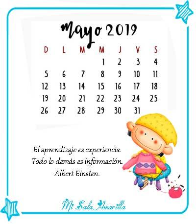 Calendario Mayo2019.Mi Sala Amarilla Calendario De Mayo 2019 Con Efemerides