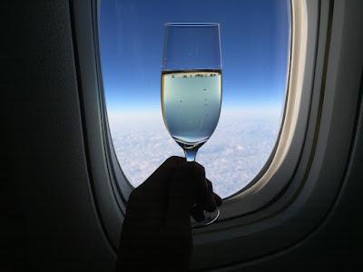 空の上のシャンパン