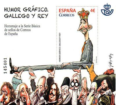 Gallego y Rey, hoja bloque homenaje a la serie básica