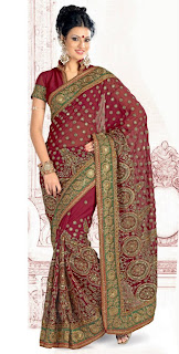 Heavily Embroidered Saree's