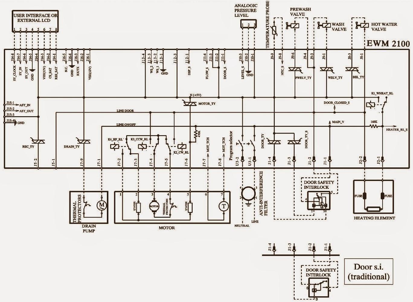 electrolux washing machine wiring diagram electrolux washing machine ewfh12280 – ewm2100hec front ... fujidenzo washing machine wiring diagram