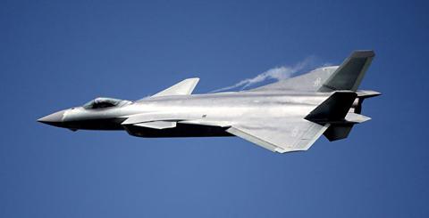 avión de combate chino secreto j20