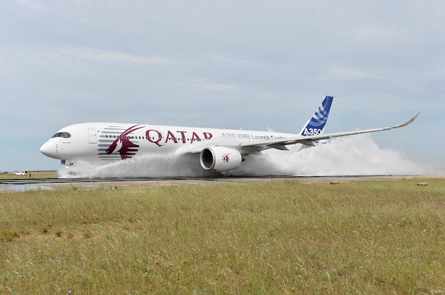 Airbus A350 During Water Ingestion Test