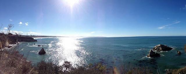 Landscape of sea,coast at Pismo Beach