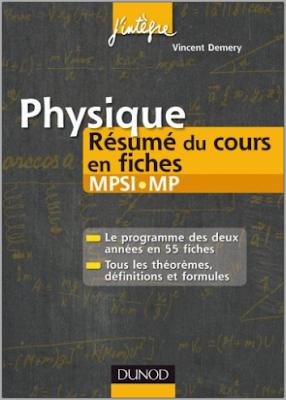 Télécharger Livre Gratuit Physique Résumé du cours en fiches MPSI-MP pdf