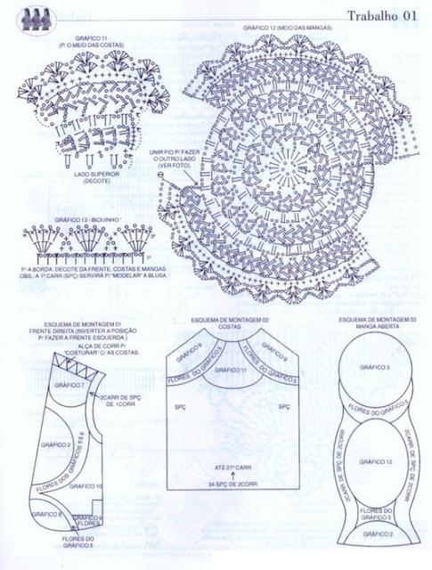 Patrones Crochet Bolero Chaqueta Con Lazo Cinta Patron