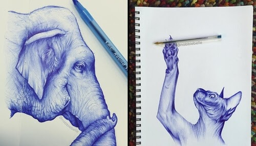 00-Annabelle-Marie-Inked-Animals-Drawn-in-Ballpoint-Pen-www-designstack-co