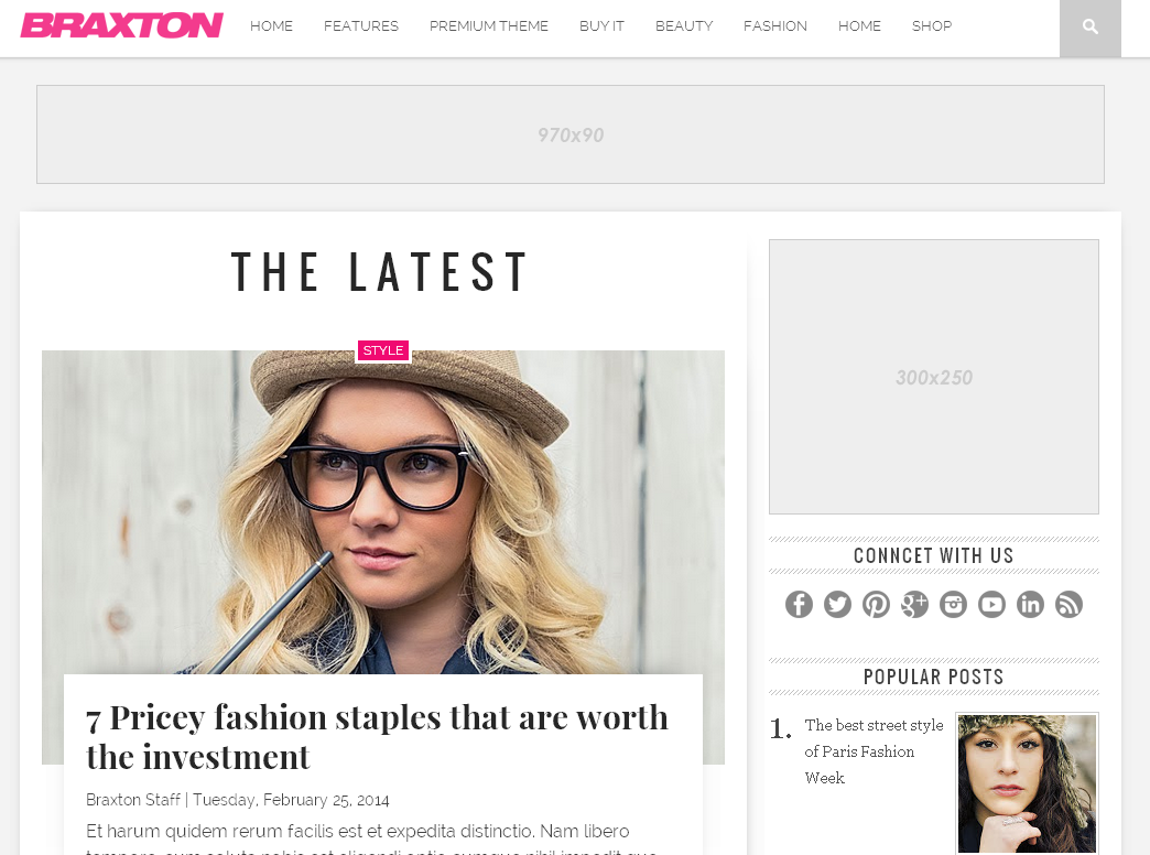 Braxton Blogger Template