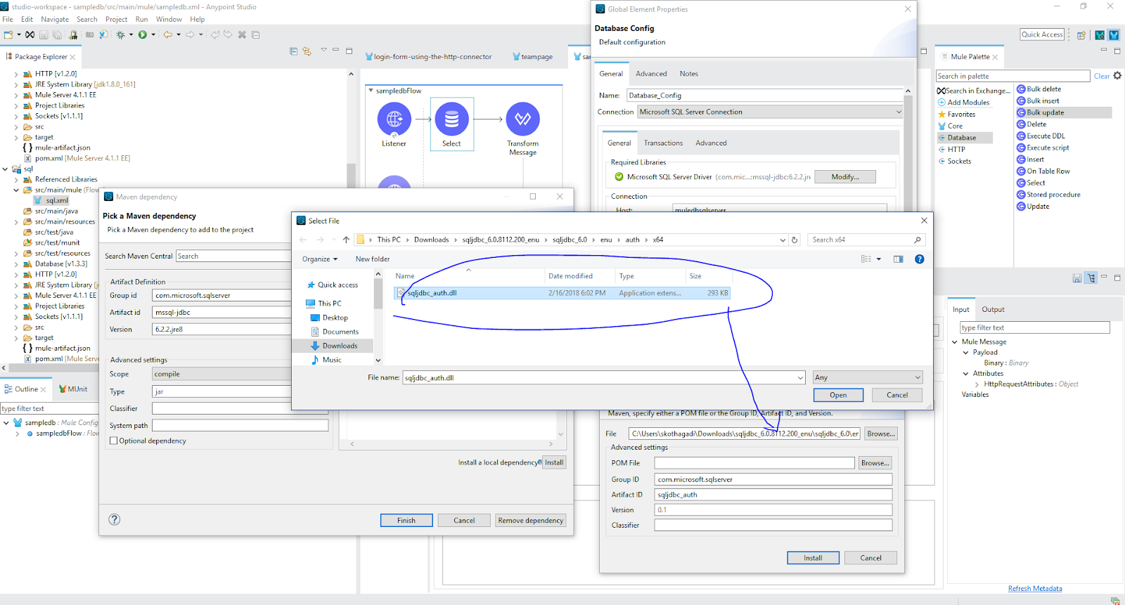 Training 2- How to connect to SQL Server using DB connector in Mule