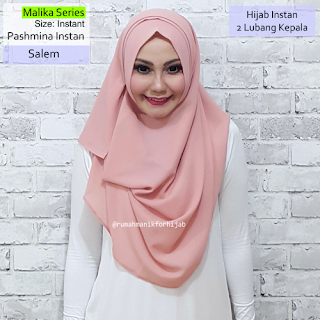 Model Pashmina Instan Malika Series Salem