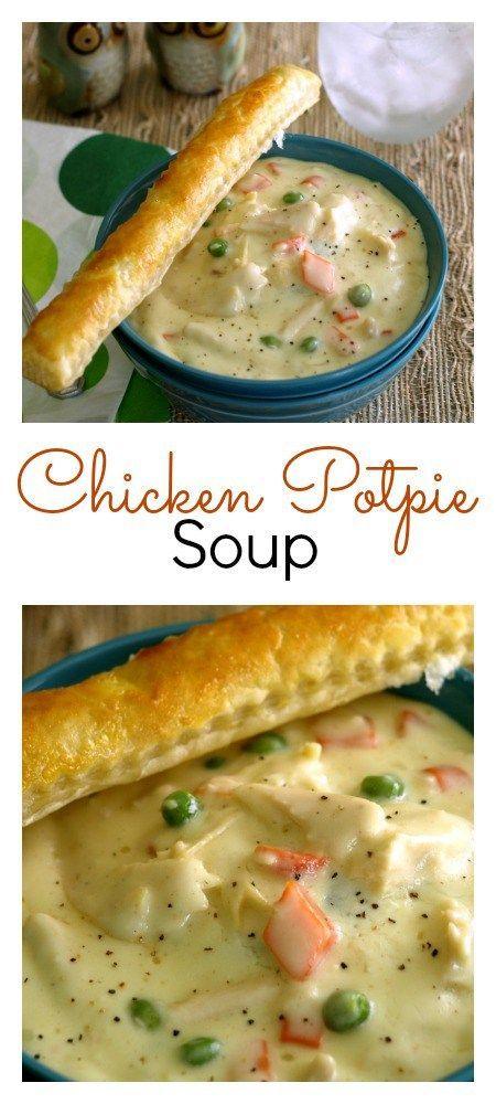 BEST EVER CHICKEN POT PIE SOUP #bestever #chicken #chickenrecipes #pie #soup #souprecipes