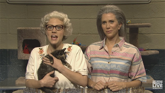 """""""A Cat is an Angel that Poops in a Box""""- Whiskers R We With Kristin Wiig - SNL"""