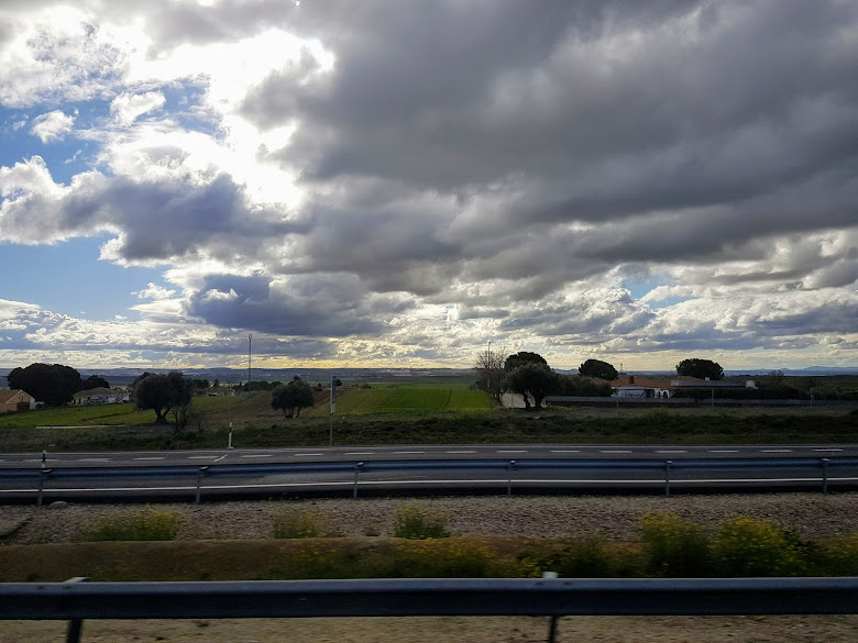 前往托雷多沿途的景色