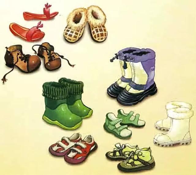 Картинки с обувью для детского сада, дню семьи