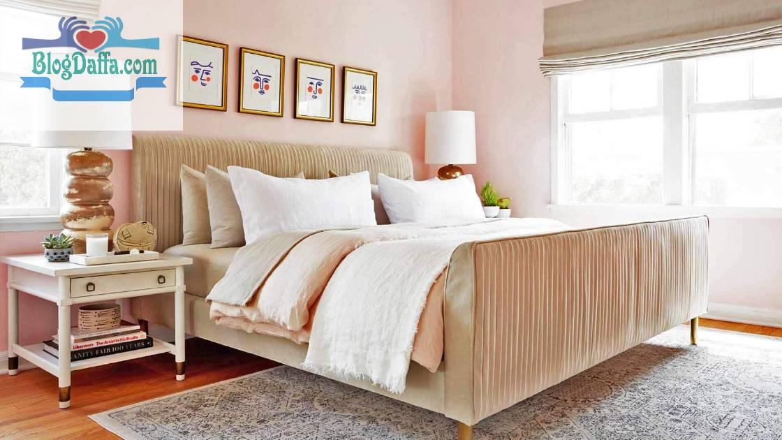 Warna kamar tidur merah tersipu