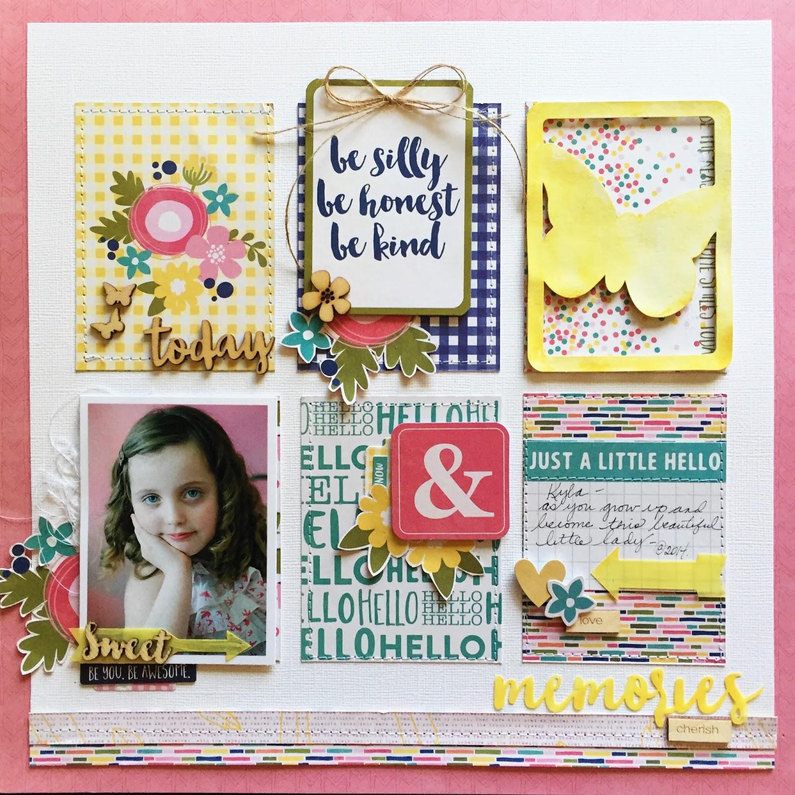 How to scrapbook memories - Sweet Memories Jillibean Soup
