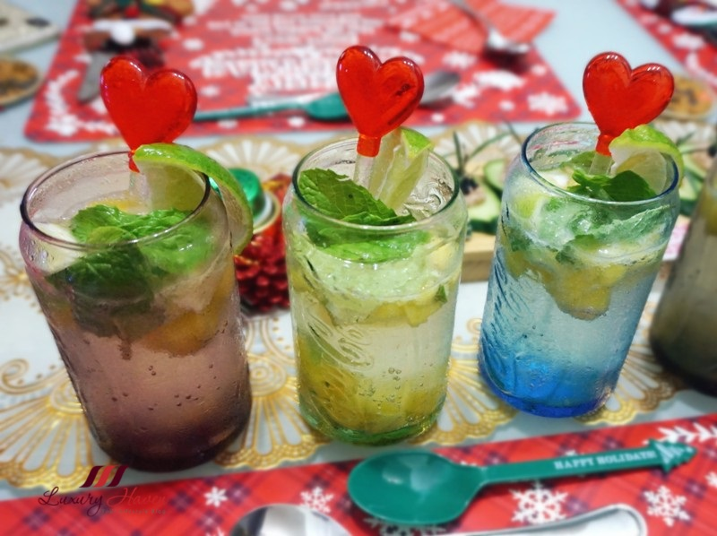 christmas party recipes sparkling mango mint soda spritzer