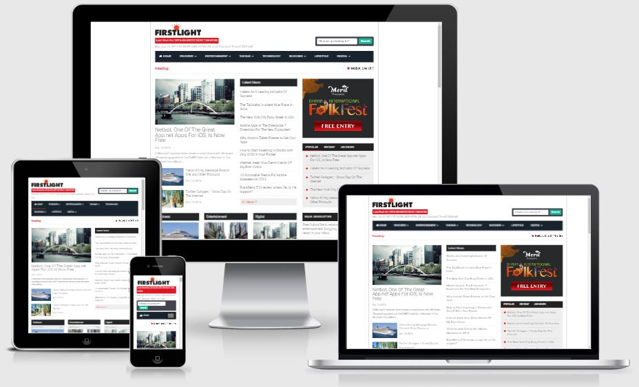 FirstLight Responsive Blogspot Blogger Template - Phiên bản Premium