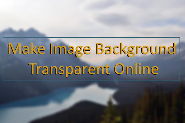Make Image Background Transparent Online