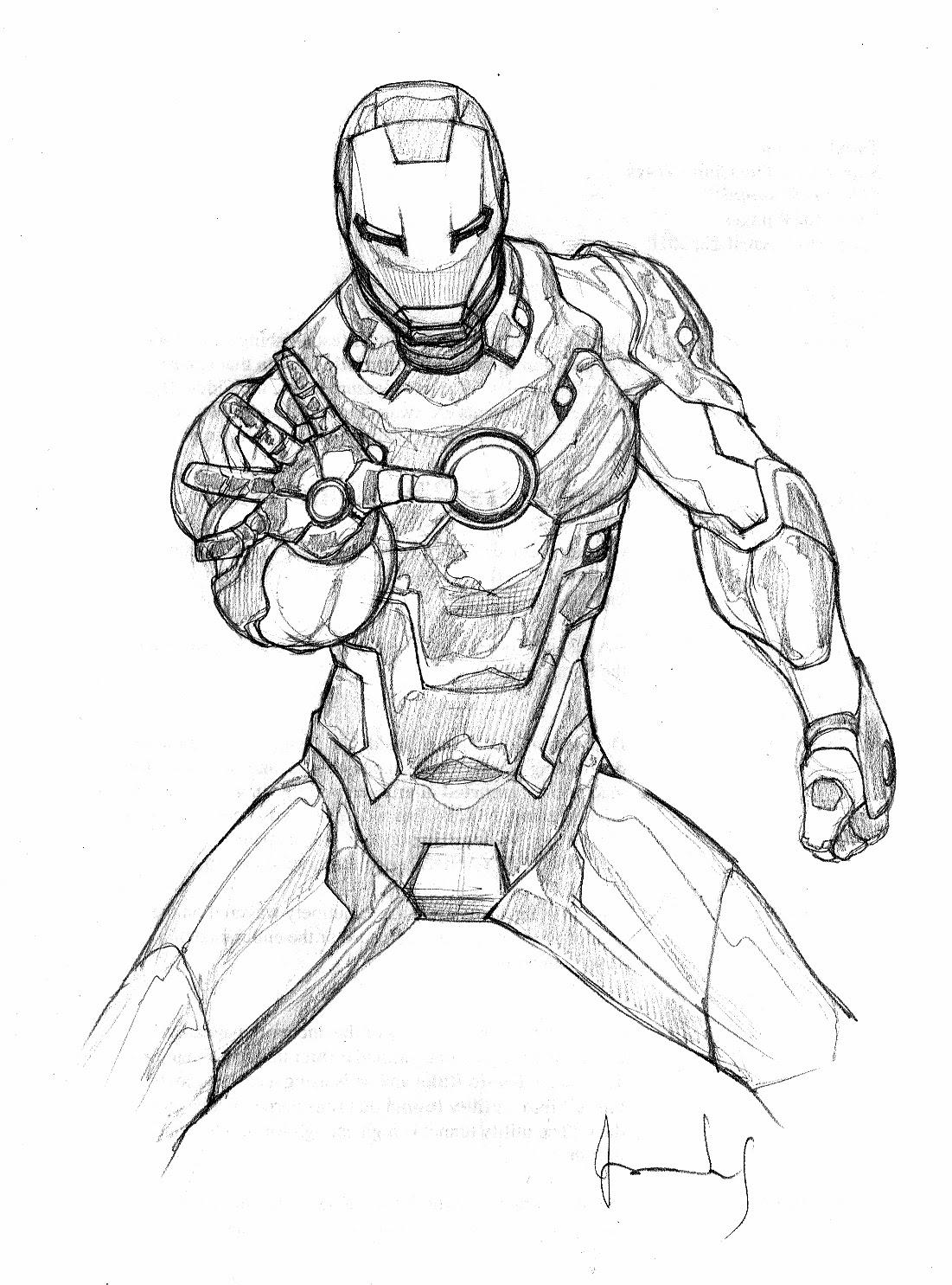 Disegni Da Colorare Con Iron Man.Iron Man Da Colorare E Stampare