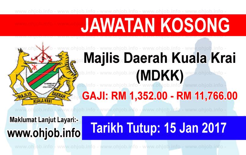 Jawatan Kerja Kosong Majlis Daerah Kuala Krai (MDKK) logo www.ohjob.info januari 2017
