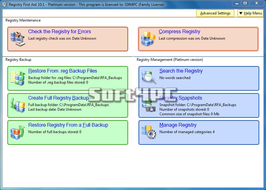 Registry First Aid Platinum 10.1.0 Build 2292 + Crack