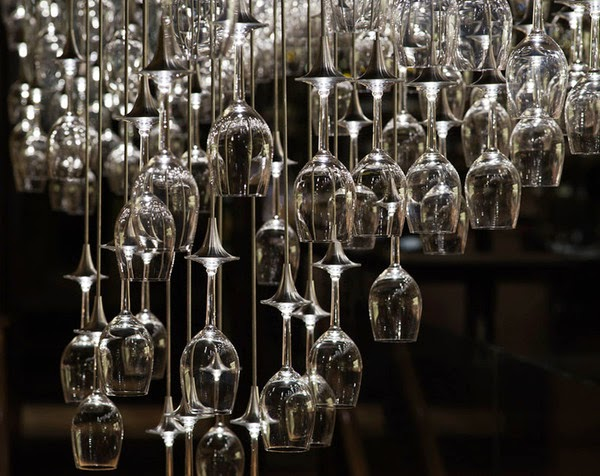 The Art Of Up Cycling Wine Glass Chandeliers Funky Cool