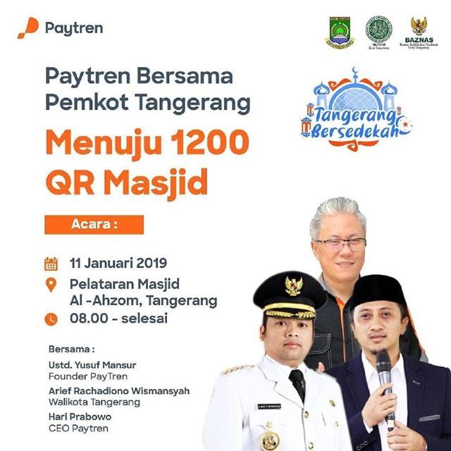 Paytren Barsama Pemkot Tangerang Menuju 1200 QR Masjid