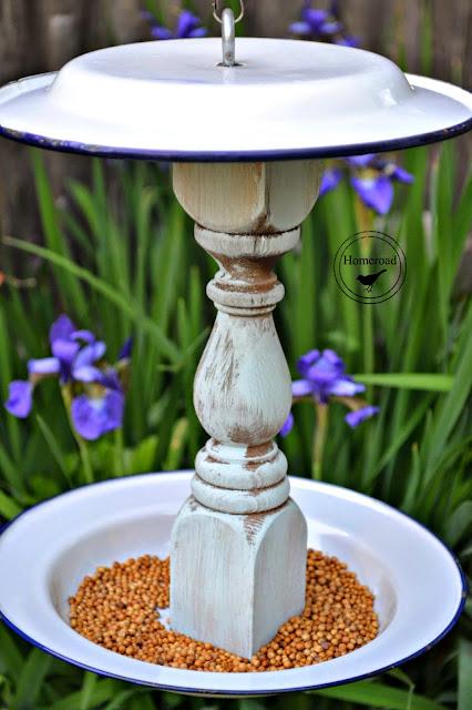 bird feeder filled with birdseed