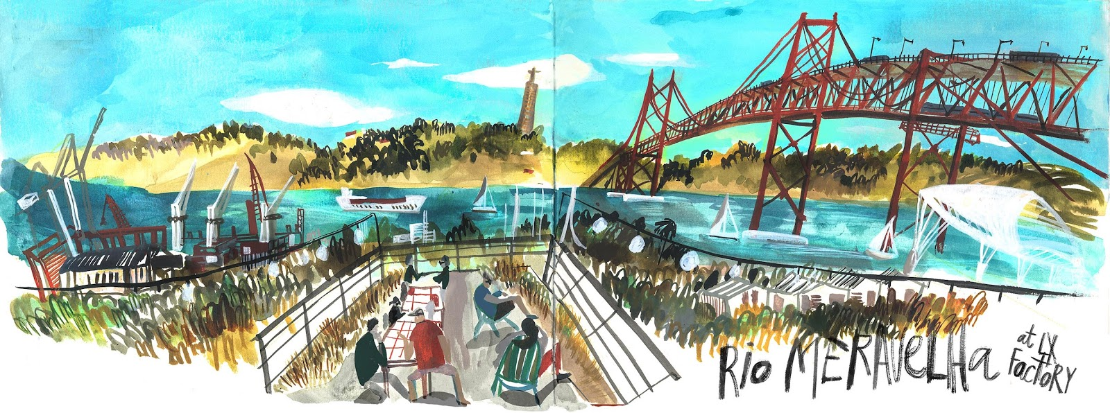 Big Gouache and Mixed Media Workshop: San Francisco | Urban Sketchers