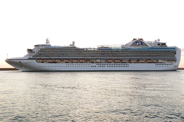 Cruise ship Emerald Princess, IMO 9333151, port of Livorno