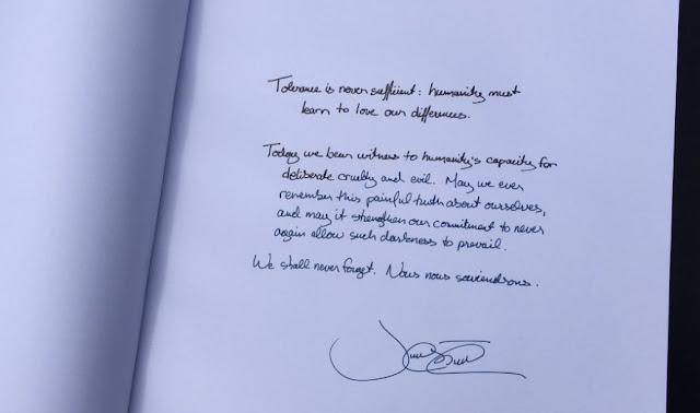 Carta del Primer Ministro de Canadá en Auschwitz