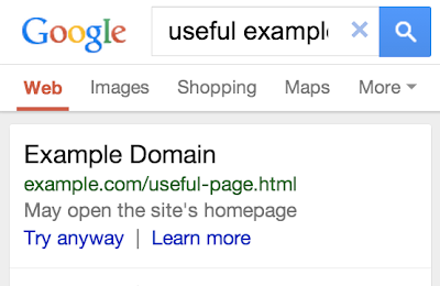 Search result redirect annotation