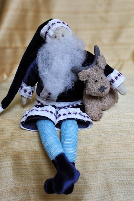 санта-клаус, тильда, дед мороз, олень,игрушка, ручная работа