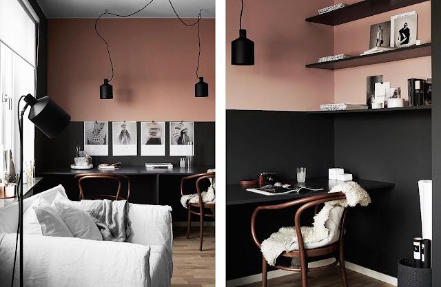 salón y despacho en negro