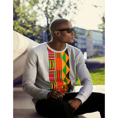 ankara sweater style for guys, Cardigan