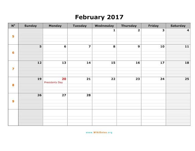 February 2017 Calendar, February 2017 Calendar Printable, February 2017 Printable Calendar, February Blank Calendar, Free February 2017 Calendar, February 2017 Calendar Template, February Calendar 2017