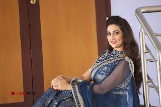 Actress Manjusha Pictures in Saree at Srirastu Subhamastu Song Launch  0251.JPG