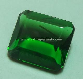 Batu Permata Green Tektite + Memo ZP 409