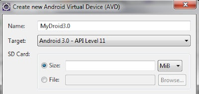 Eclipse New Android Virtual Device