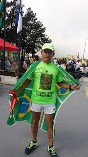 Francisco Corredor acompanhou o comboio da Tocha Olímpica da Barra do Imbuí até o Soberbo: homenagem aos desportistas