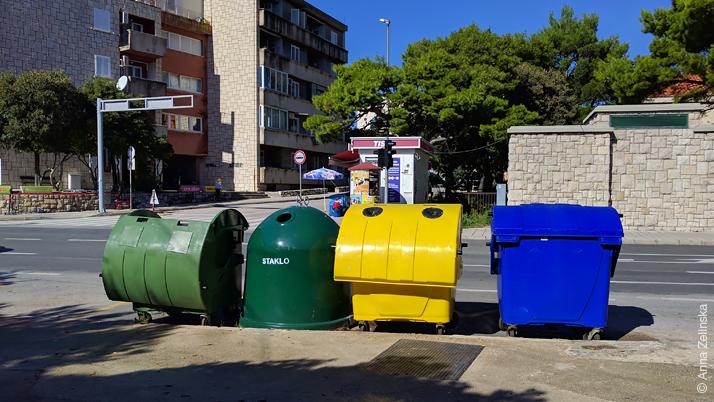 Баки для сортировки мусора, Дубровник